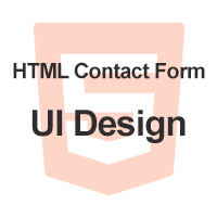 HTML Contact Form UI Design